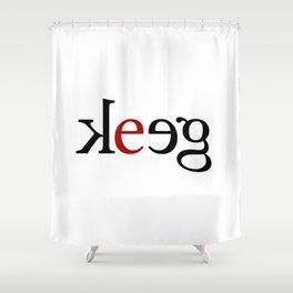 geek_blk Shower Curtain