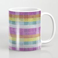 newspaper Mugs featuring Rainbow Newspaper by Underground Artiste