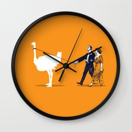Walking the Ostrich Wall Clock