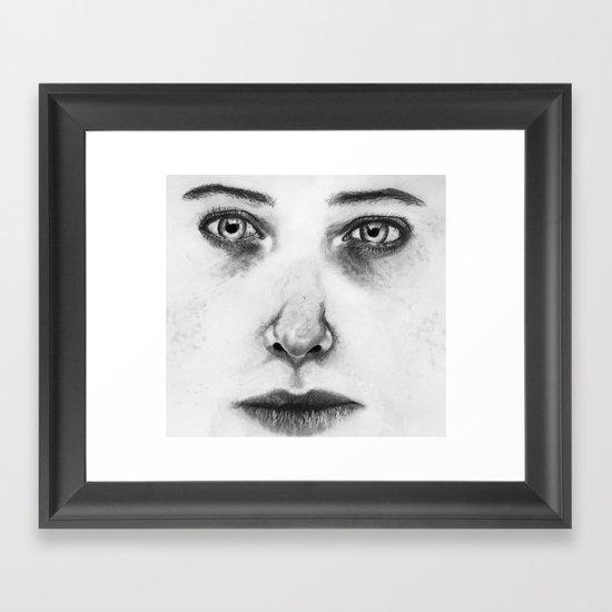 Untitled (Face Number 1) Framed Art Print