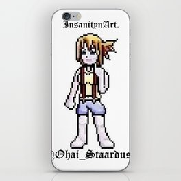 InsanitynArt Presents the Staardust Sprite of Cosplay Artist Jess Staardust. iPhone Skin