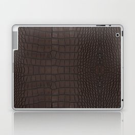 Alligator Brown Leather Print Laptop & iPad Skin