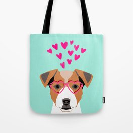 Jack Russell Terrier valentines day hearts love dog lover dog person gifts for valentine Tote Bag