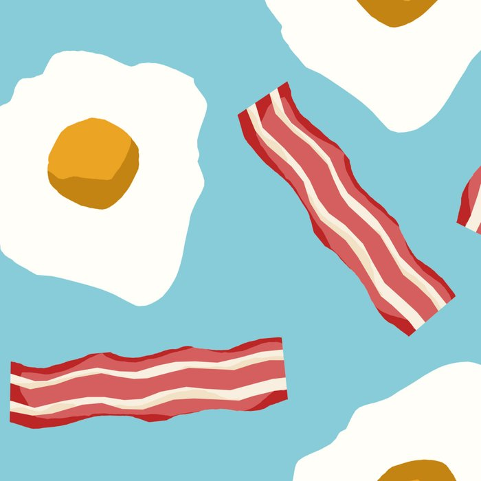 eggs and bacon breakfast food fight apparel and gifts Leggings