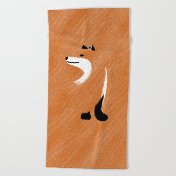 Unique Fox Design Beach Towel