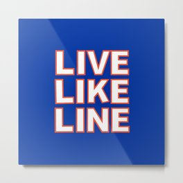 LIVE LIKE LINE Volleyball Metal Print