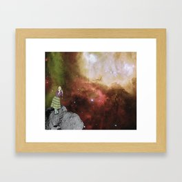 Lady in Space III Framed Art Print