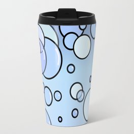 Bubbles on Blue Travel Mug