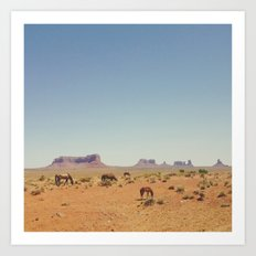 Grazing The Desert Art Print