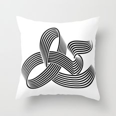 Eye bending Ampersand. Throw Pillow