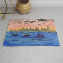 Williamstown - Melbourne Skyline Rug