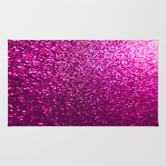 Pink Sparkle Glitter Rug By Wdwfan