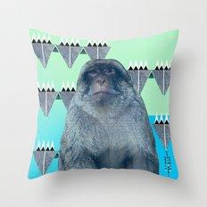 Barbary Ape Throw Pillow