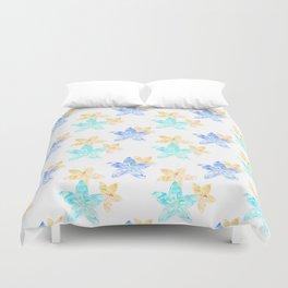 Tropical bloom pattern Duvet Cover