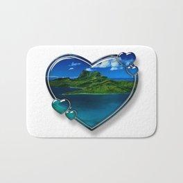 I Love Bora Bora 2 Bath Mat