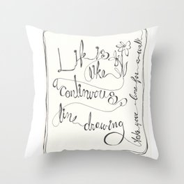 Line  ( Take your line for a walk) Throw Pillow