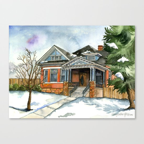 Vintage Winter Canvas Print