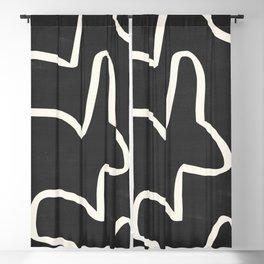 abstract minimal 61 Blackout Curtain