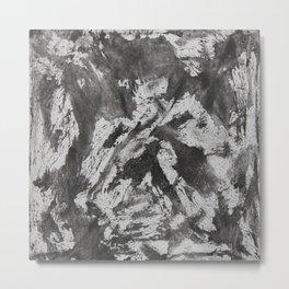 Black Ink on White Background Metal Print