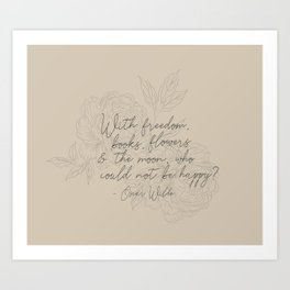 Freedom & Flowers Art Print