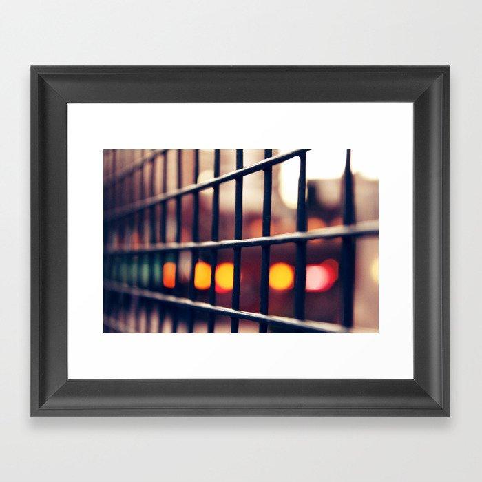 Circles and squares Framed Art Print