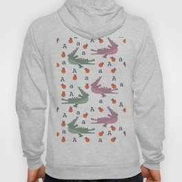 a is for alligator eating an apple Hoody