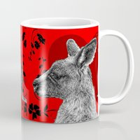 kangaroo Mugs featuring Kangaroo by SwanniePhotoArt