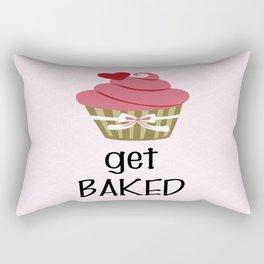 Cupcake - Get Baked Rectangular Pillow