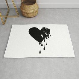 Bleeding Black Heart Rug