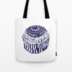 Tea cake (blue) Tote Bag