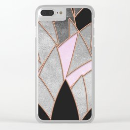 Vibrant Sharp Stone Clear iPhone Case
