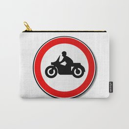 Motorcycle Round Traffic Sign Carry-All Pouch
