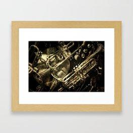 Tarnished Brass Framed Art Print