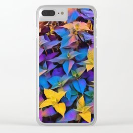 Flourescent Leaves Clear iPhone Case