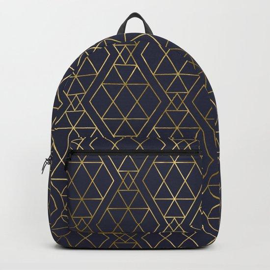Modern Art Deco Geometric 2 Backpack