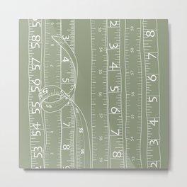 Fashion Measuring Tape - Sage Metal Print