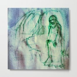 Vladimir Karabegov Sketch In Green Marker Metal Print