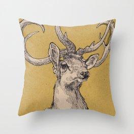 Eld's Deer Throw Pillow