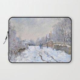 Snow Scene At Argenteuil Claude Monet Laptop Sleeve
