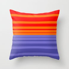 Sundown - Stripes Only Throw Pillow