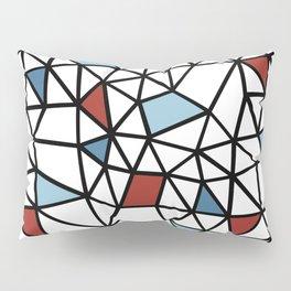 Segment Red and Blue Pillow Sham