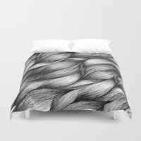 hair Duvet Covers featuring hair by Jevan Strudwick