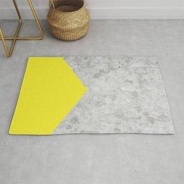Geometric Concrete Arrow Design - Yellow #193 Rug