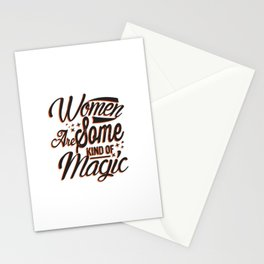 Women are Magic for Girl Power and Women Future Success Stationery Cards