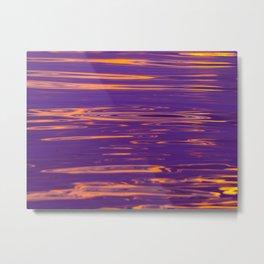 abstract water gradient 0838 Metal Print