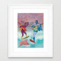 surfing Framed Art Prints featuring surfing by Robert Deutsch