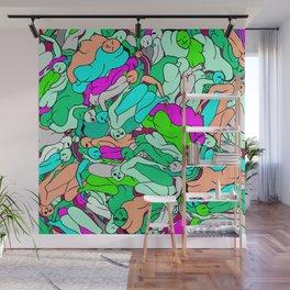 Sleepy Heads - Emerald Green Wall Mural