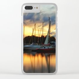 Salboats at Sunset in Toronto Clear iPhone Case