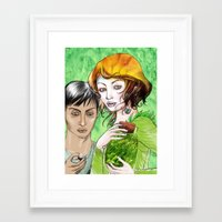pagan Framed Art Prints featuring Pagan magic by Anko