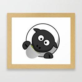Cartoon Cute Sheep Framed Art Print